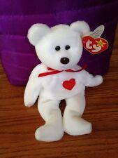 MWMT Ty Beanie Babies Valentino 1994 White Red Heart Bear Retired Plush Animal
