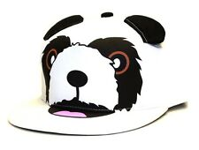 CITY HUNTER PANDA BEAR BIG FACE SNAPBACK HAT ADJUSTABLE FLAT BILL CAP HEAD EARS