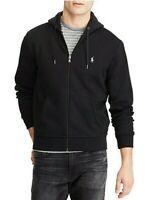 Polo Ralph Lauren Mens Designer Full Zip Hooded Jacket Hoodie Black Size M