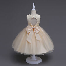 Flower Girl Dress Princess Formal Birthday Party Holday Bridesmaid Wedding New