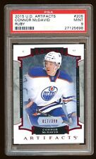 PSA 9 CONNOR McDAVID 2015 UD ARTIFACTS ROOKIE /399 RUBY BASE RC   NHL  MVP  HOT