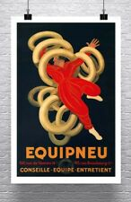 Equipneu 1931 Leonetto Cappiello Tire Advertising Poster Canvas Giclee 24x36 in.