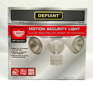 Defiant White Motion-Sensing Outdoor Security-Light 180 Degree by 703499 NEW