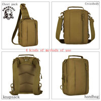 Tactical Military Men's Nylon Shoulder Bag Handbag Messenger Chest Day Back Pack