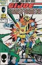 G I JOE & THE TRANSFORMERS #1-4 VERY FINE COMPLETE SET 1987 MARVEL COMICS