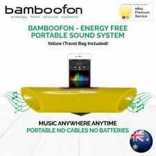 BambooFon - Energy Free Portable Sound System - Yellow (Travel Bag Included)