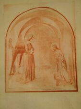 Rare grande gravure art catholique Paris Annonciation Fra Angelico estampe