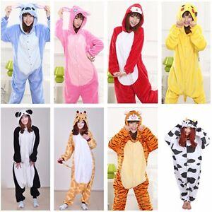 Comfort Unisex Adult Pajamas Cosplay Costume Animal Sleepwear Suit For Men Women