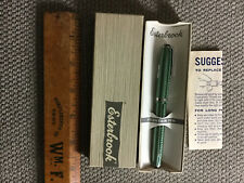 Vintage NOS Esterbrook 2556 Fountain Pen Green in Original Box w Instructions
