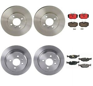 Brembo Front & Rear Brake Disc Rotors and Pads Kit For BMW E30 325e
