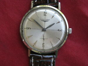Longines 23Z Vintage Stainless Steel Manual-Wind Wrist Watch, Crosshair Dial