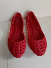 melissa shoes campana chochet red size 7