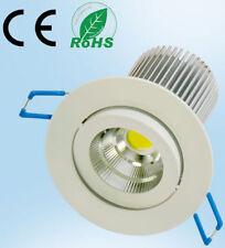 LED COB SPOT 230V 7W verre dépoli 3000K de Plafond Encastré Lumière