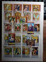 Religion Pascua Navidad Ostern Weihnachten Lot Briefmarken Sellos Stamps Timbres