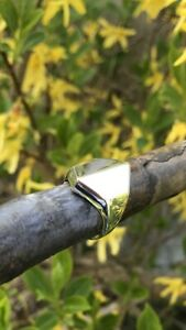 Hand Made unusual Sterling Silver Signet Ring