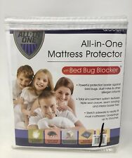 All-in-One Mattress Protector Queen w/ Bed Bug Blocker- Triple Seal Closure New