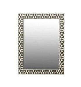 handmade bone inlay wooden modern hexagon pattern mirror frame furniture gift it