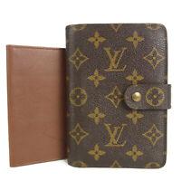 Auth LOUIS VUITTON M61207 Monogram Porte Papier Zip Bifold Wallet 17047bkac