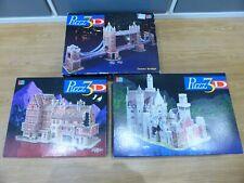 MB Puzz 3D Puzzles Alpine Castle Bavarian Mansion Tower Bridge