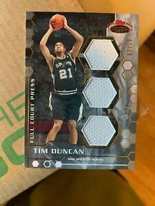 2007-08 STADIUM CLUB TIM DUNCAN FULL COURT PRESS TRIPLE RELIC CARD 2/10 SPURS ~