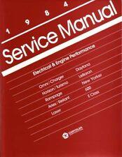 1984 Lebaron New Yorker 600 Aries Shop Service Repair Manual Engine Drivetrain