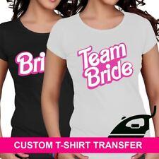 Bridesmaid Hen Night Team Bride Barbie Iron On TShirt Fabric Heat Transfer Crew