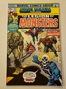 Marvel Premiere #28 1975 Legion of Monsters Ghost Rider Morbius Man Thing VF+ 8.
