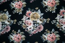 Brushed Floral ITY Print #291 Stretch Polyester Lycra Spandex Fabric BTY