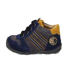 scarpe bambino BALDUCCI 18 EU sneakers blu grigio camoscio AD597-C