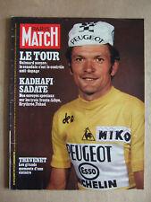 PARIS MATCH AOUT 1977 N° 1471 KADHAFI SADATE. JOE KENNEDY. SEVESO. LUCKY LUKE