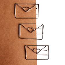 1x30mm*46mm metal silver color heart shape paper clip cute bookmark tag clip CA