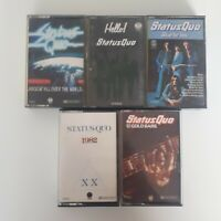 Status Quo Cassette Job Lot Bundle X5