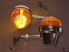 Turn signal pair set short stem Lucas copy Triumph Norton BSA flashers blinker