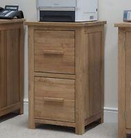 Windsor solid oak furniture two drawer office computer filing cabinet