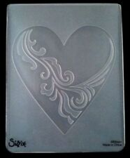 Sizzix Large Embossing Folder HEART ORNATE fits Cuttlebug & Wizard 4.5x5.75in