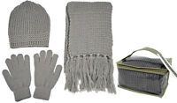 Warm Winter Set Knitted Beanie/Hat/Cap Scarf & Gloves Matching Set