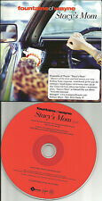 Ivy FOUNTAINS OF WAYNE Stacy's Mom CARD EUROPE Made PROMO CD single USA Seller