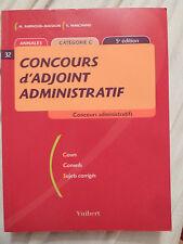 Concours D'adjoint Administratif - Annales Catégorie C  Marchand Barnoud