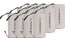 12 x Sub C SubC Con Tab 6000mAh 1.2V Ni-MH batería recargable de alta potencia