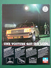 6/1979 PUB AUTOMOBILE VOITURE CHRYSLER SIMCA HORIZON CAR ORIGINAL FRENCH ADVERT