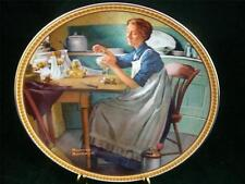 Edwin Knowles Norman Rockwell Working in the Kitchen LTD Edition China Plate