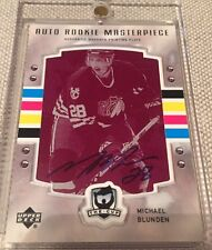 2006-2007 UD THE CUP Michael (Mike) Blunden AUTO PRINTING PLATE ROOKIE RC 1/1