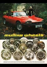 "1978 MULLINS WHEELS XJS JAGUAR AD A1 CANVAS PRINT POSTER FRAMED 33.1""x23.4"""