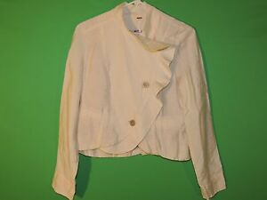Free People Women's Size 6 Tan Button Front Floral Lining Long Slv Shirt / Top