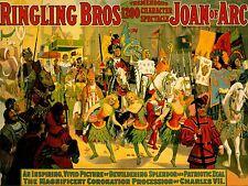 ADVERTISING CIRCUS RINGLING BROS JOAN ARC PROCESSION PARADE POSTER PRINT LV617