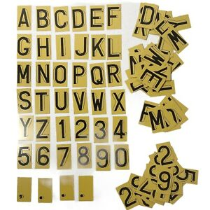 """94pcs Letters & Numbers 1-3/4""""x1"""" Metal Double-Sided Vintage"""