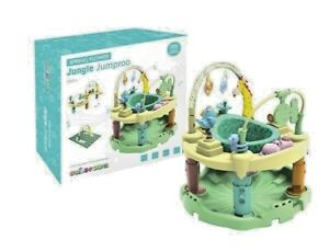 Best and safe jumper with Activities Center for boys and girls Rainforest green