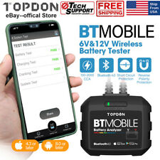 TOPDON BTMobile Car Battery Tester Analyzer Charging System Cranking Volage Test