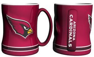 Arizona Cardinals NFL Red 14 oz Ceramic Relief Mug
