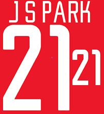 Corea del Sur Parque local 2002 Camisa Fútbol Fútbol De Impresión De Calor Número Letra H